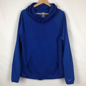 Champion Duo Dry Hoodie Blue Size L